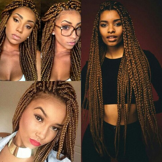 "(3packs)MEDIUM BOX BRAIDS FREETRESS BULK CROCHET LATCH HOOK BRAIDING HAIR 18""…"