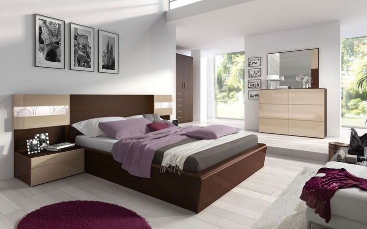 Made in Spain Wood Contemporary Modern Bedroom Sets with Extra Storage North Las Vegas Nevada ESF-Maya