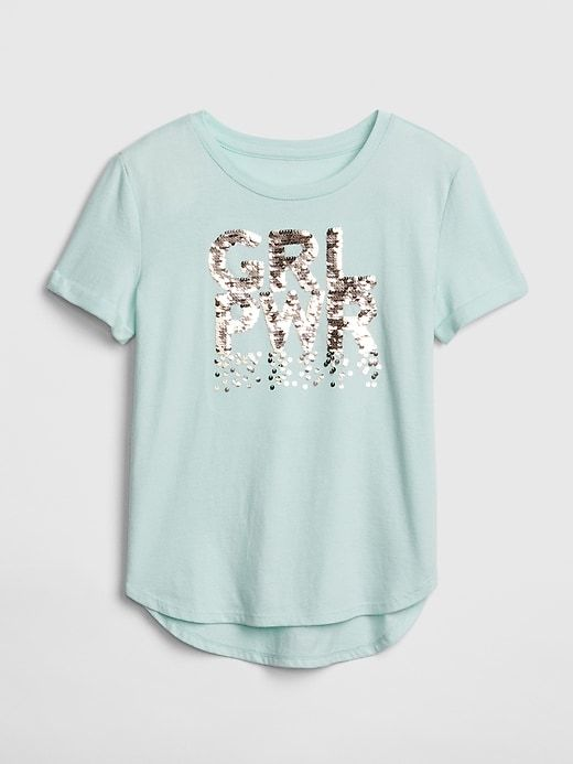 979ddaadc3d Gap Girls' Kids Flippy Sequin Graphic T-Shirt Quince in 2019 ...