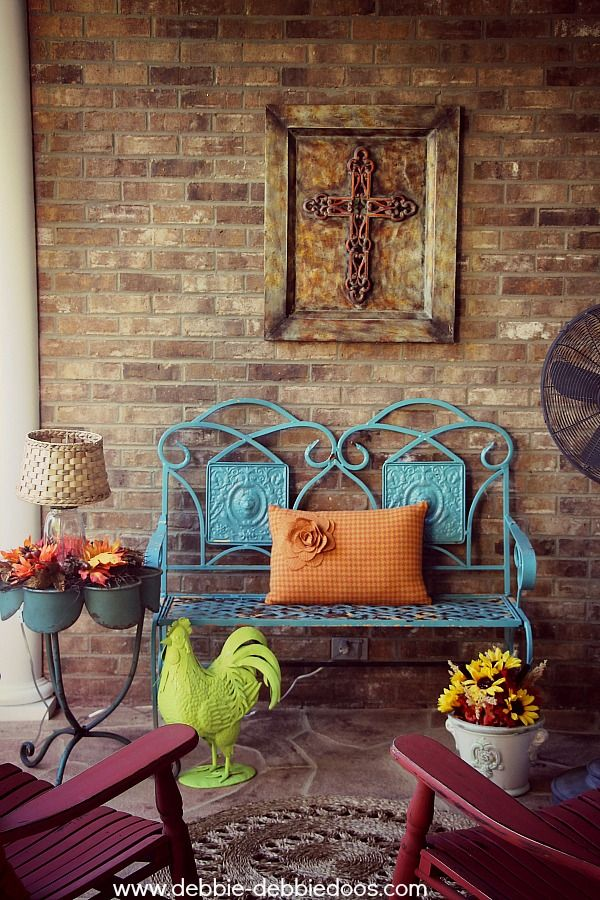 406 best all things fall i love fall images on for Fall balcony decorating ideas