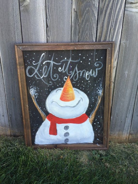 Let it snow look up by RebecaFlottArts on Etsy