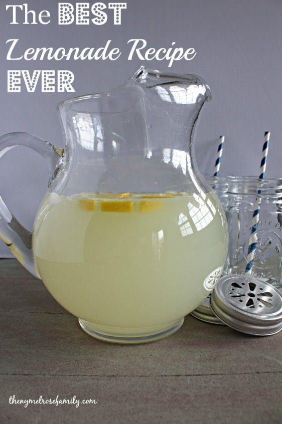 The BEST Lemonade Recipe EVER www.thenymelrosefamily.com #lemonade #beverage #summer_drinks