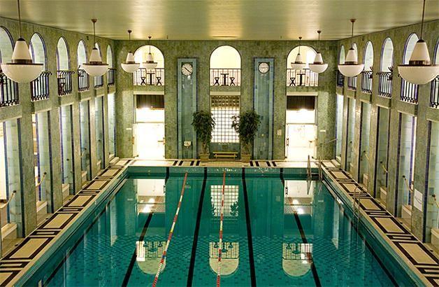 Yrjönkatu Swimming Hall, Helsinki. The oldest swimming hall in Finland - Halli otettiin käyttöön 4. kesäkuuta 1928