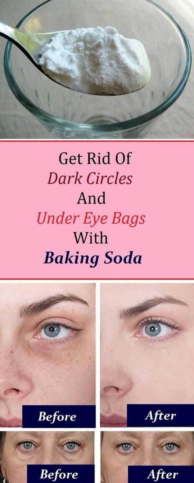 Makeup Tips That Make Wrinkles Vanish - Remove dark Circles And Under Eye Bags With baking Soda - Make Up and Anti Aging Skin Care Home Remedies and Essential Oils - How To Get Faces To Look Years Younger - Skincare Products For Women to Combat Crows Around the Eyes - thegoddess.com/makeup-tips-to-make-wrinkles-vanish #antiagingskincare
