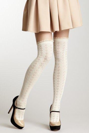 Lace Knee Hi Socks