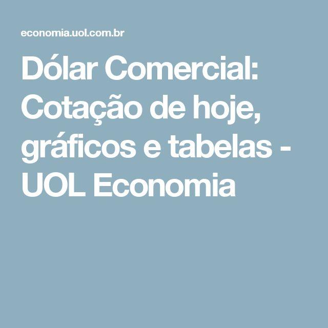 Dólar Comercial: Cotação de hoje, gráficos e tabelas - UOL Economia