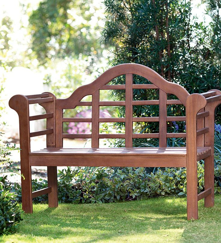 all weather solid wood lutyens garden bench 19995. beautiful ideas. Home Design Ideas