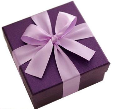 108 best gift boxes images on pinterest sweet jars bridal gifts purple presents gift wrapping negle Choice Image