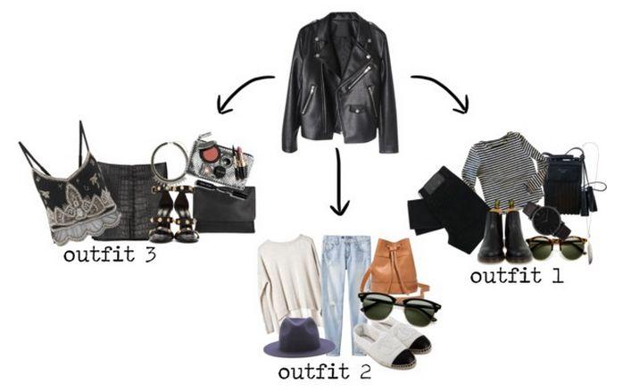 1 Piece 3 Ways: Leather Jacket