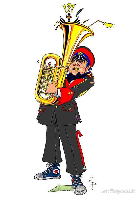 Brass Band - Tuba Player by Jan Szymczuk