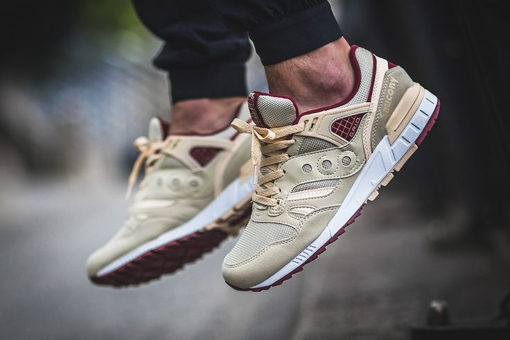 This new colorway of the Saucony Grid SD features a cream colored upper with…