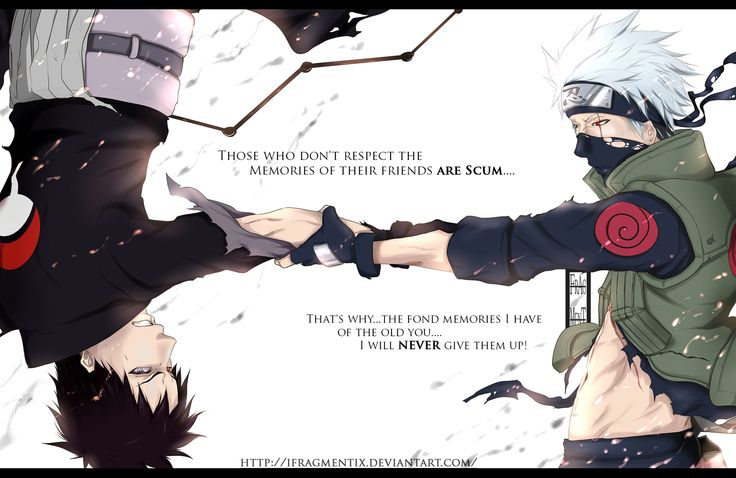 """Bonds"" by IFrAgMenTIx.deviantart.com on @deviantART Ft. Obito Uchiha and Kakashi Hatake (Naruto)"