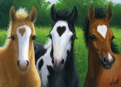 Valentine foals - hearts