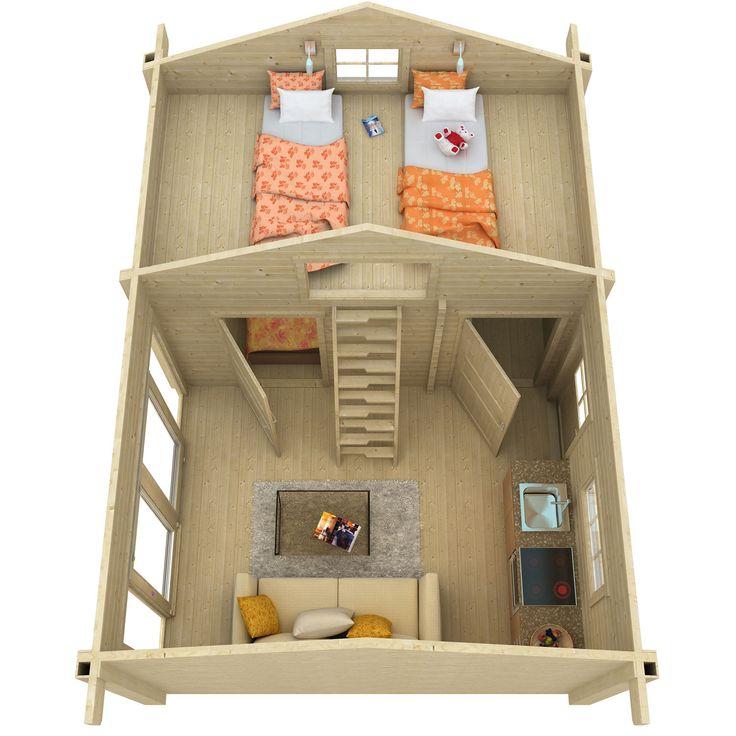 NYHET 2016 23,6 kvm + loft 9,8 kvm (virkestjocklek 70 mm) Attefallshus Diana med loft Med fönster och ytterdörr som tillval (se våra två olika fönster/dörr tillval under 'tillbehör')Diana är ett attefallshus med rymligt loft och här finns alla möjligheter för dig som vill ha ett rymligt fritidsboende. Det är gott om plats för både sängplatser, storstuga, matplats och badrum.Se specifikation nedanLadda ner konstruktionsritning →Ladda ner bygganmälan →