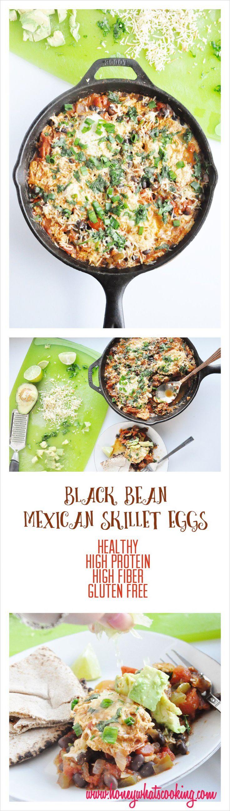 Black Bean Mexican Skillet Eggs
