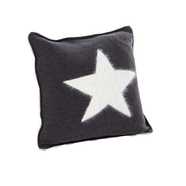Gant Angora Big Star Kissenbezug 50 x 50 cm dunkelgrau