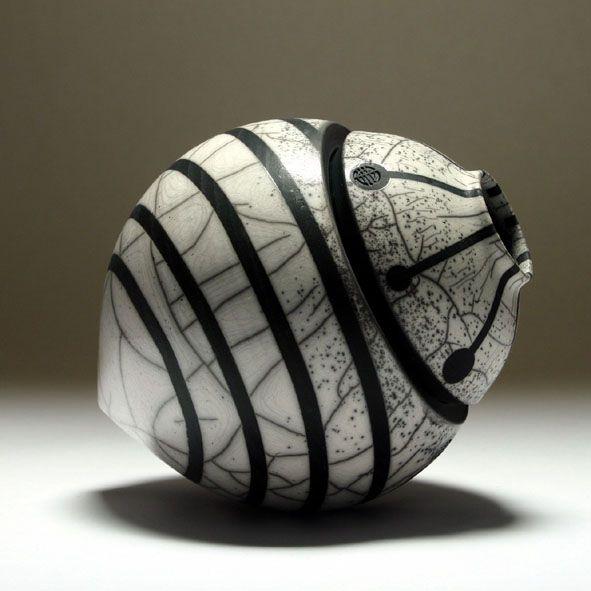 Eric Moss | Raku 'seedpod'
