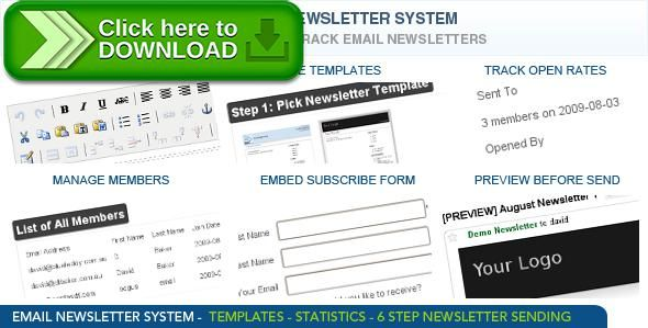 [ThemeForest]Free nulled download Newsletter System from http://zippyfile.download/f.php?id=49807 Tags: ecommerce, e-newsletters, email newsletters, mailer, news mailer, newsletter script, newsletter system, newsletters, open source newsletter, open source newsletter system, php email script, php mailer, php newsletter, php newsletter script
