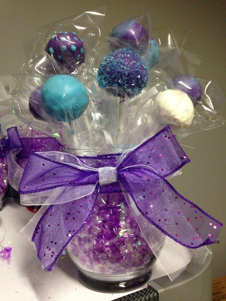 cake pop centerpieces | Cake pop centerpiece bouquet