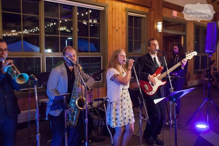 Wedding bands almost always get the crowd out on the dance floor... here are some friends of the groom performing at his Sugarbush Resort wedding this summer.