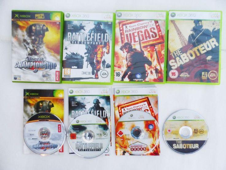XBOX 360 SABOTEUR + Battlefield 2 + Tom Clancys Six Vegas, Unreal Champsionship