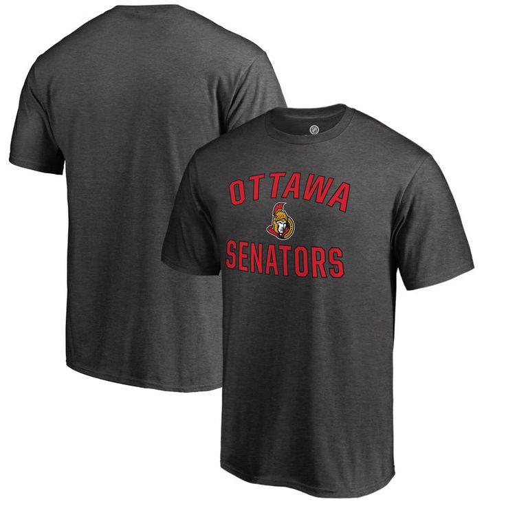 Ottawa Senators Fanatics Branded Victory Arch T-Shirt - Heathered Gray