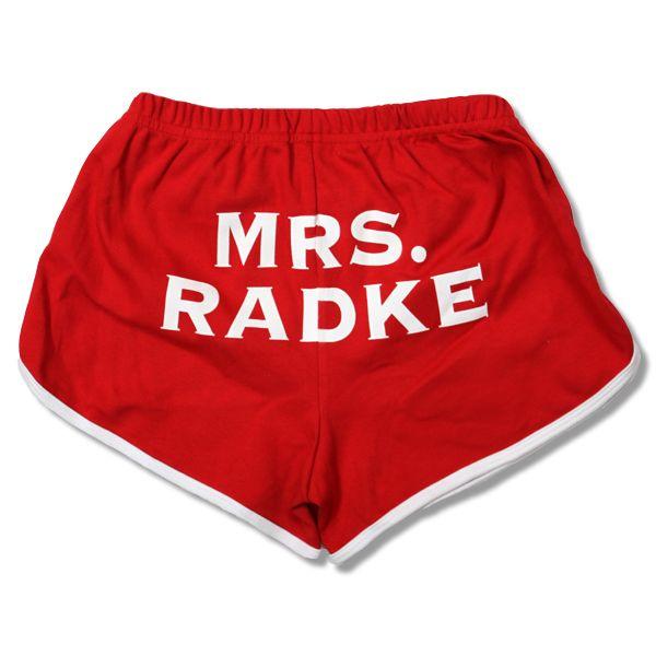Mrs. Radke booty shorts from the Falling in Reverse merch store