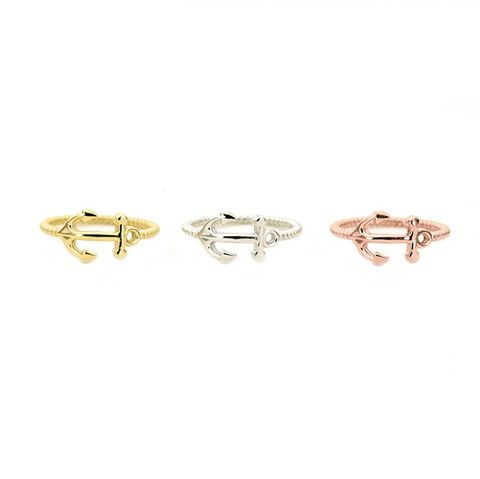 Anchor ring - EVE Silver Jewelry