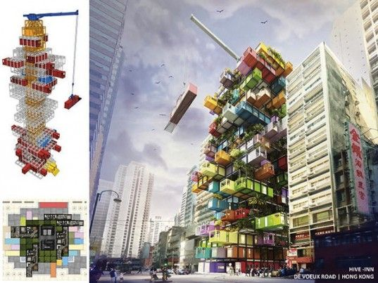 Shipping containers high rise