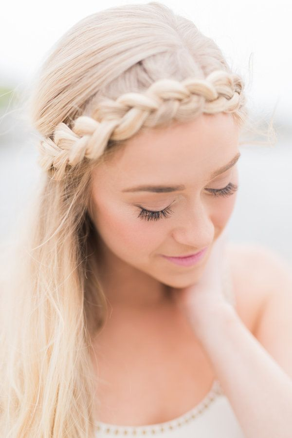 bridal makeup hair style 4th of july bachelorette weekend halo braid braid 5234