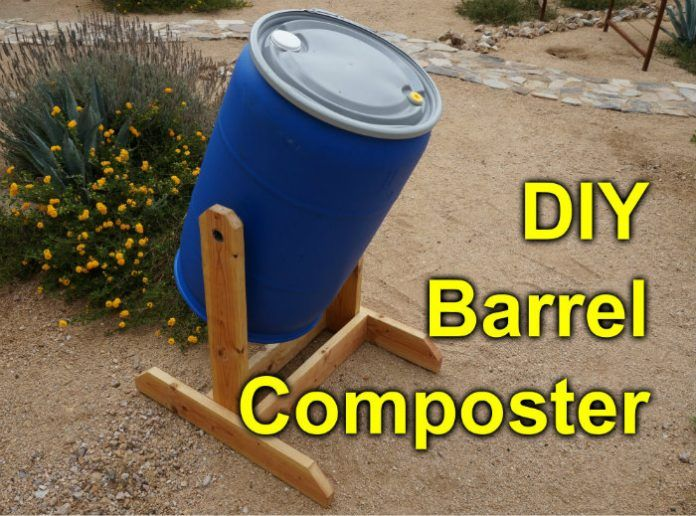 How To Make Homemade Compost Tumbler from Barrel