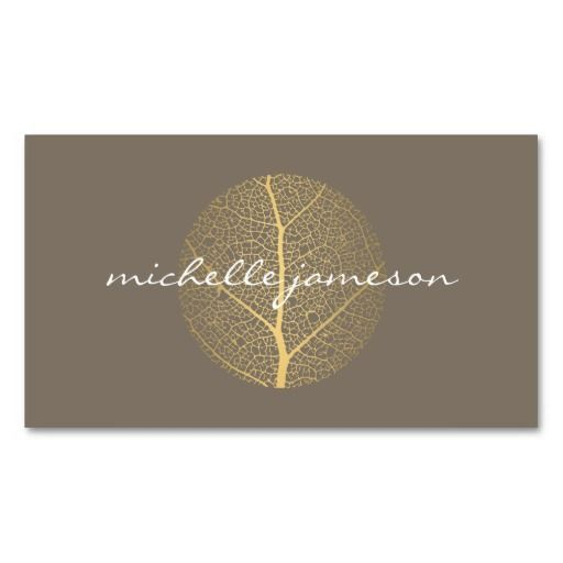 Elegant Gold Leaf Logo and Business Card Template - ready to customize