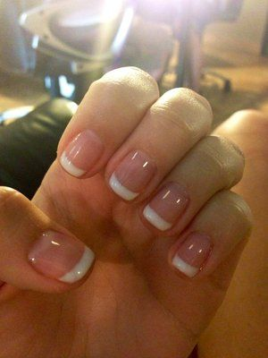 Shellac Nails French Manicure | French tip shellac nails by Nina