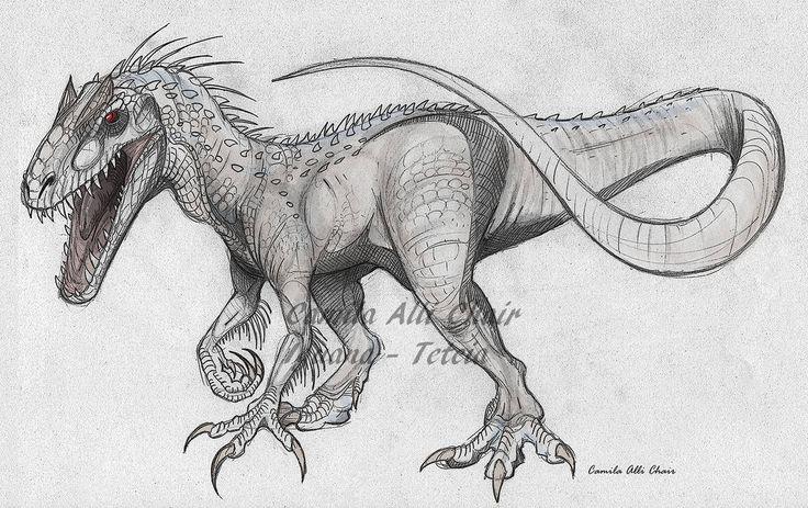 Indominus rex by FreakyRaptor Dinosaur drawing