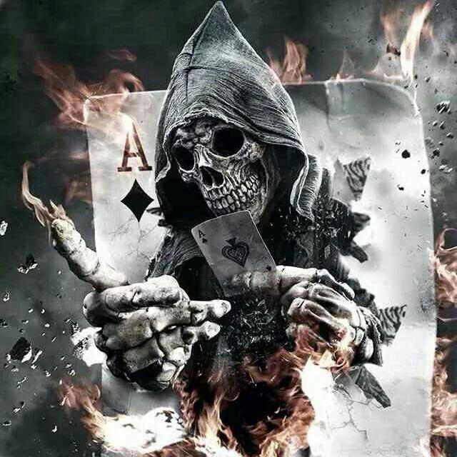 Grim reaper ace of diamonds  SkeletonsAnatomy  Skull
