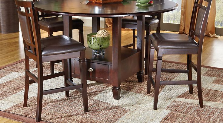 Landon Chocolate 5 Pc Counter Height Dining Set For The