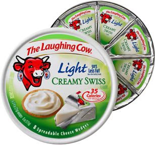 Laughing Cow Light ... several flavors ... great cheese taste ... fewer calories.  Replaces mayo on my sandwiches!!