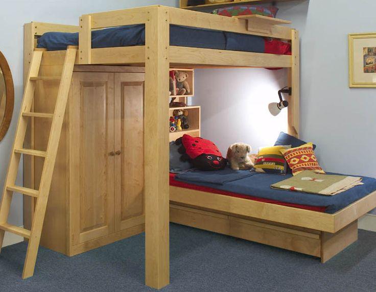 565 best images about diy in outdoor beds on pinterest for Diy pallet loft bed plans