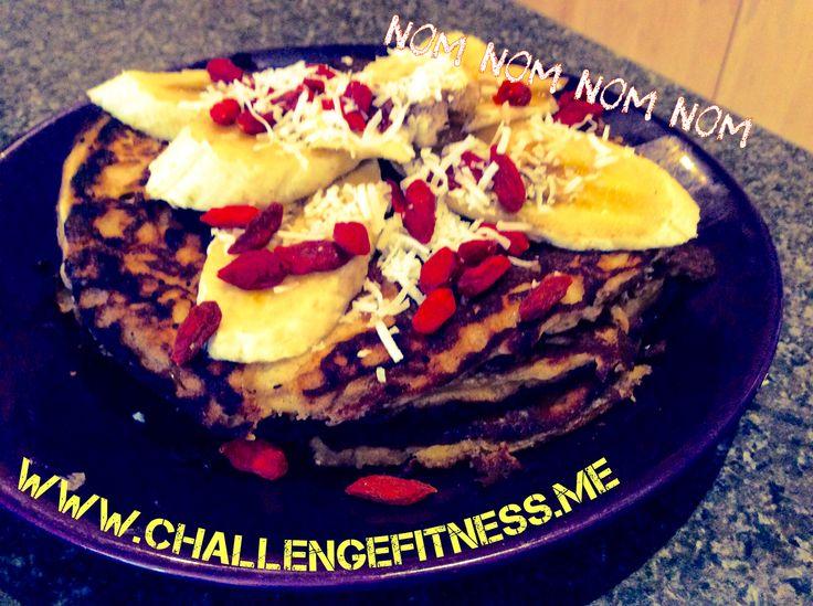 Banana protein pancakes. Nom nom nom.