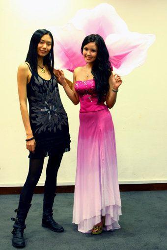 Ms. Singapore Universe 2009, Rachel Kum  Dress designed by a fashion design student from RDI, Singapore
