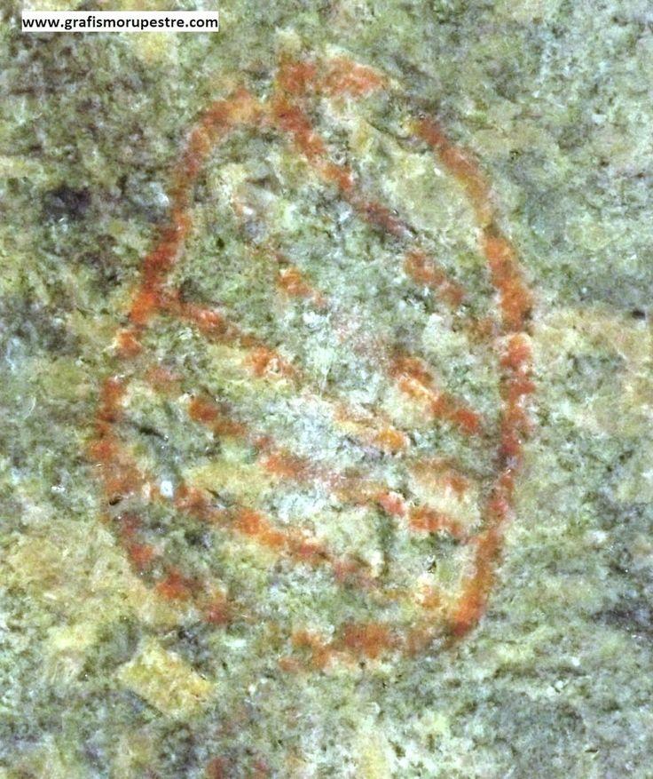 Figura 2: Detalhes de dois dos desenhos geométricos no Abrigo da Pedra do Índio – Extrema – Minas Gerais. Foto: Jean Marie Polli, 2012. A foto foi modificada para melhorar o contraste.