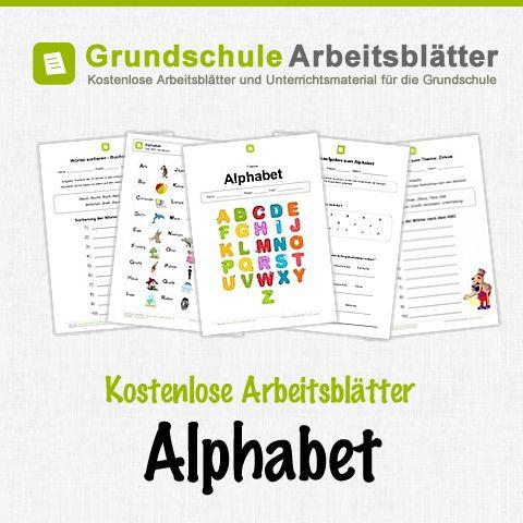 Kostenlose Arbeitsblätter und Unterrichtsmaterial für den Deutsch-Unterricht zum Alphabet in der Grundschule.