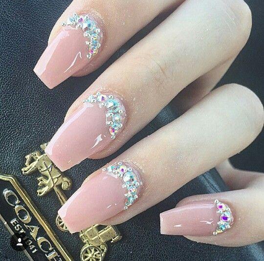 best ideas Gorgeous Pink Nail Arts design you will like❤ - Best 25+ Diamond Nails Ideas On Pinterest Black Nails, Glitter