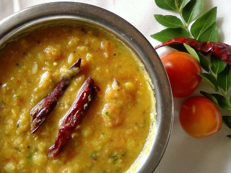 Tomato Pappu Recipe - Andhra Style Tomato Dal Recipe - Andhra Recipes | Indian Cuisine