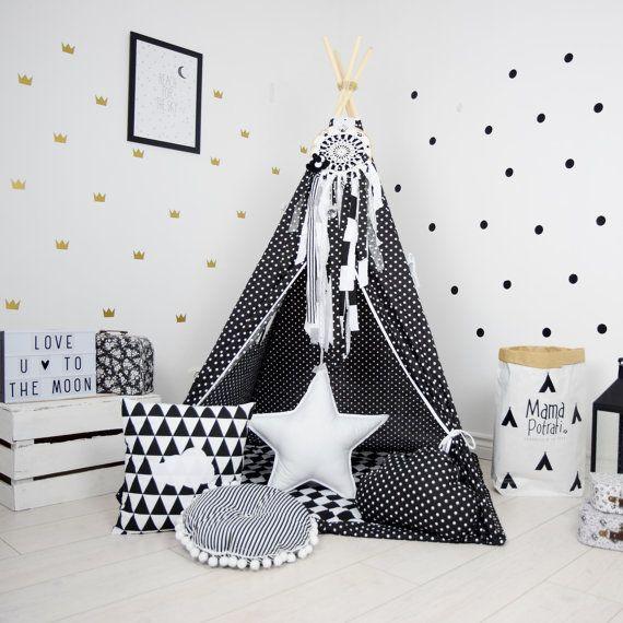 Rangement Chambre Fille Ikea : Tipi Set enfants jouer tente Tipi enfant jouer tipi par MamaPotrafi