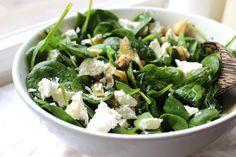 Groene salade met artisjok, feta & dille