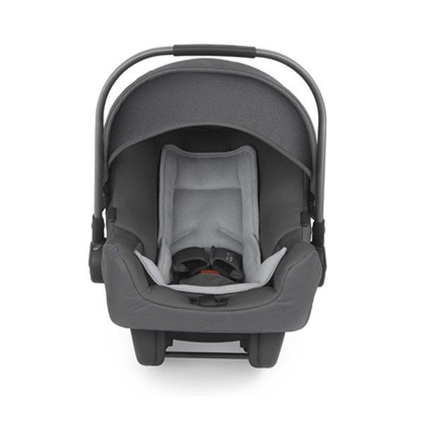 Nuna PIPA car seat in graphite color. Rear facing car seat for newborn babies.