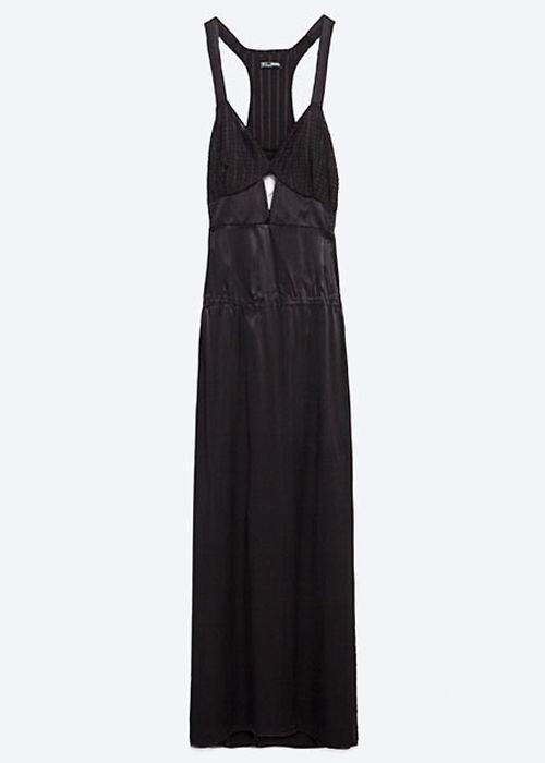 Vestido largo lencero