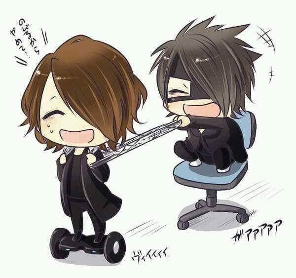 Chibi Kai & Reita. the GazettE. Lol! So cute!