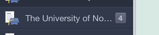 Just noticed what my university name abbreviates to when I have unread posts. Oh Facebook, how well you know me.